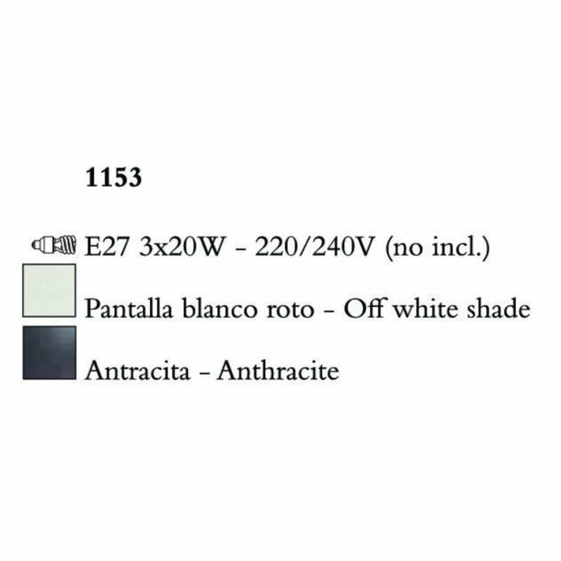 Mantra EVE 1153 csillárok nappaliba  antracit   fém