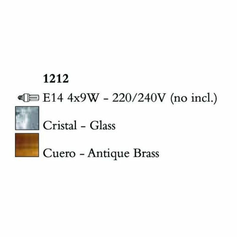 Mantra BALI 1212 többágú függeszték sárgaréz fém