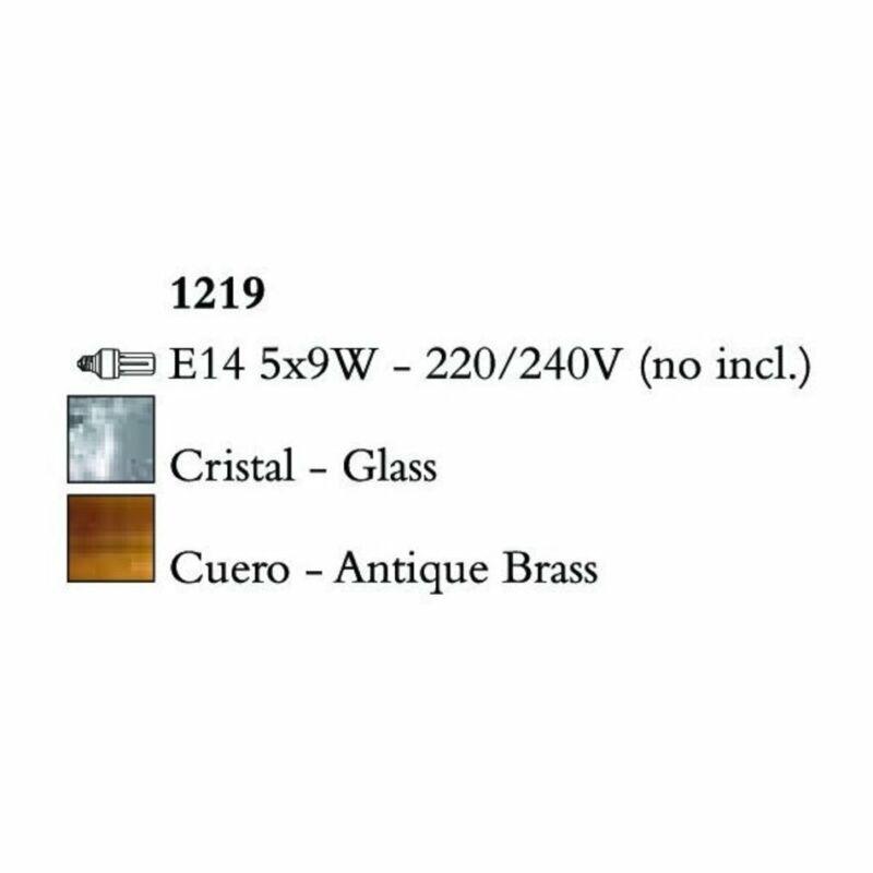Mantra BALI 1219 többágú függeszték sárgaréz fém