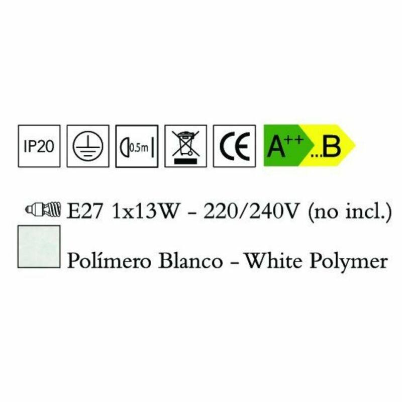Mantra ORA 1547 fali lámpa  fehér   műanyag