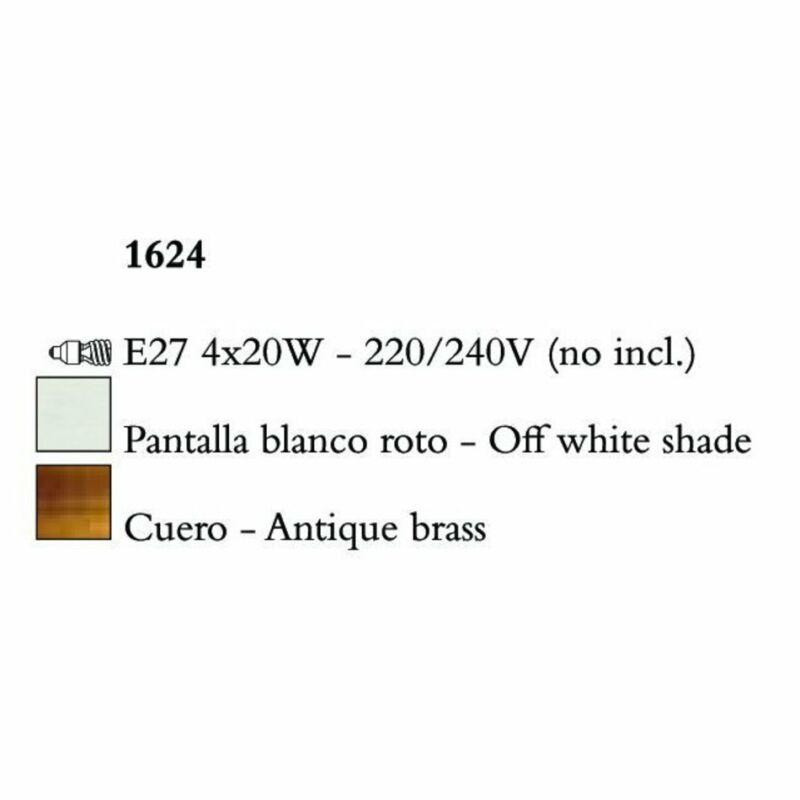Mantra MARA 1624 egyágú függeszték antik réz fém
