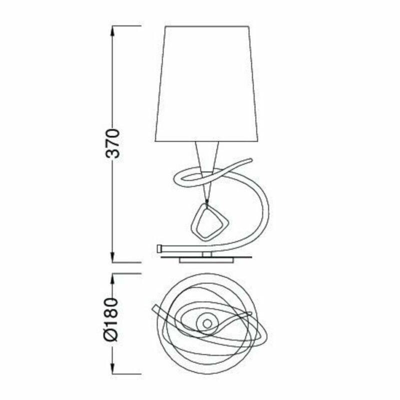 Mantra MARA 1649 asztali lámpa  króm   fém