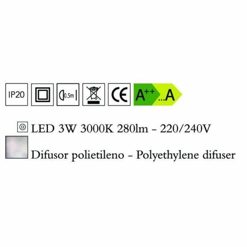 Mantra EOS 1884 ledes asztali lámpa opál műanyag