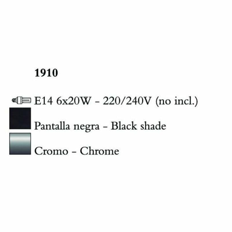 Mantra NINETTE 1910 fekete csillár  króm   fém