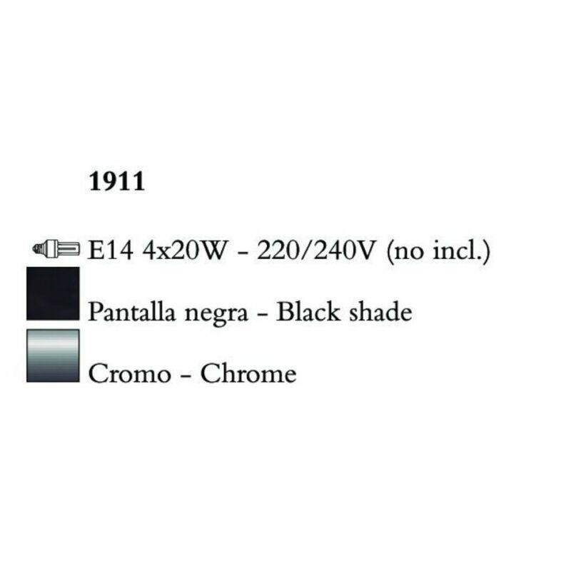 Mantra NINETTE 1911 többágú függeszték króm fém