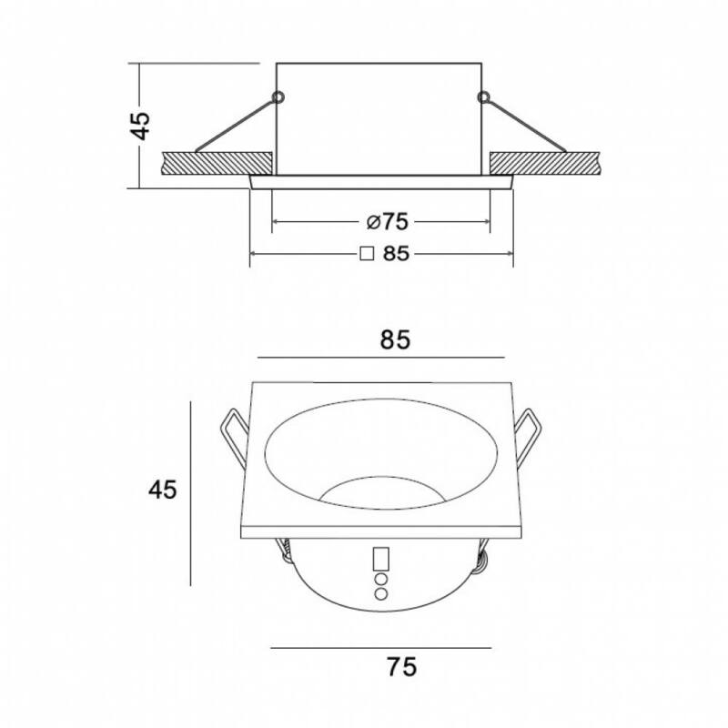 Mantra COMFORT IP 6812 álmennyezetbe építhető lámpa matt fehér alumínium
