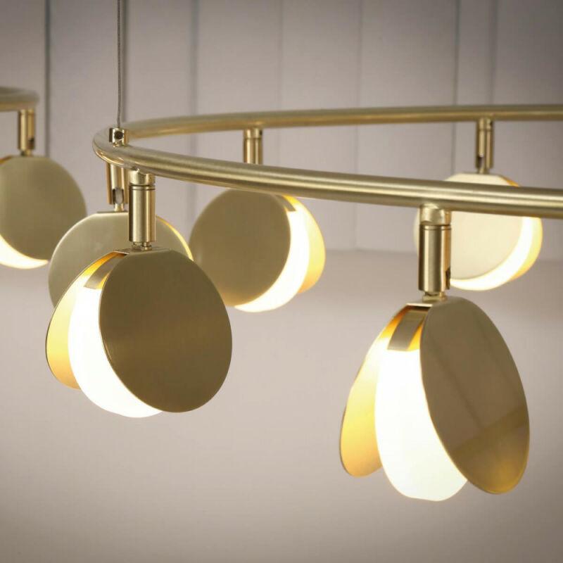 Mantra Shell 7261 modern csillár arany fém