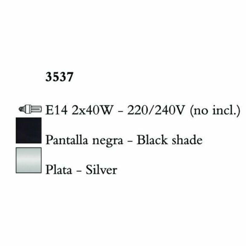 Mantra PAOLA 3537 falikar  ezüst   fém