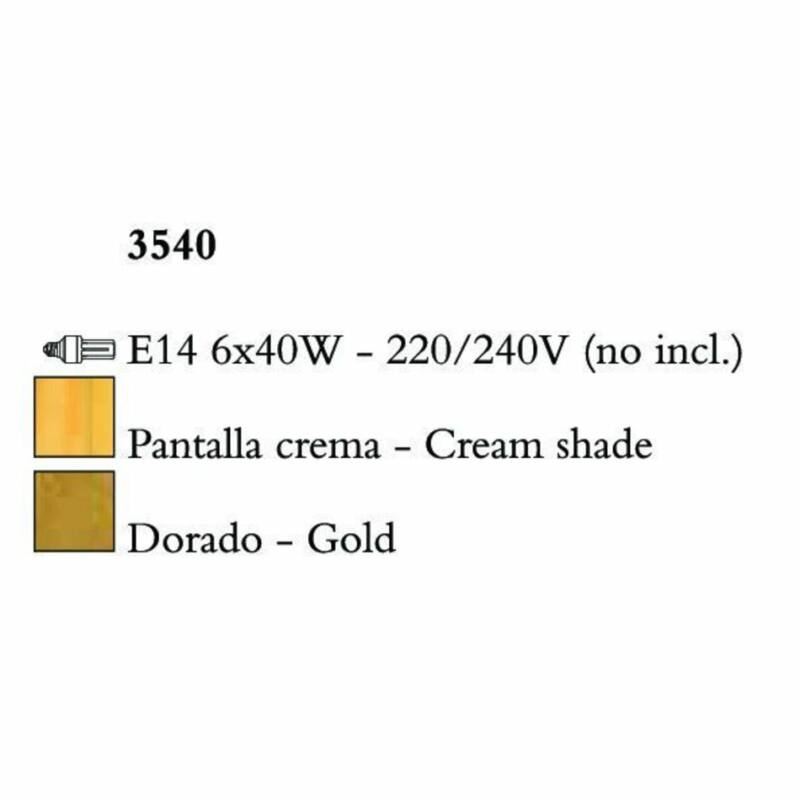 Mantra PAOLA 3540 csillárok nappaliba arany fém