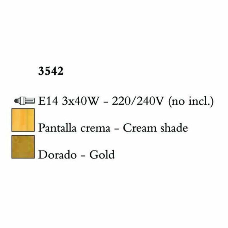 Mantra PAOLA 3542 csillárok nappaliba arany fém