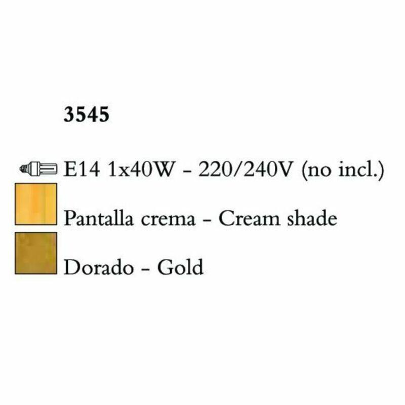 Mantra PAOLA 3545 asztali lámpa  arany   fém