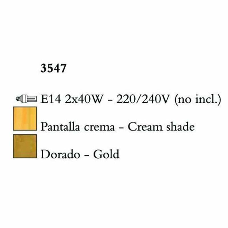 Mantra PAOLA 3547 falikar arany fém