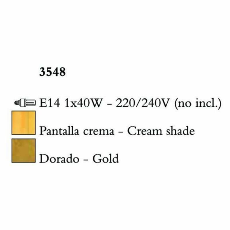Mantra PAOLA 3548 falikar arany fém