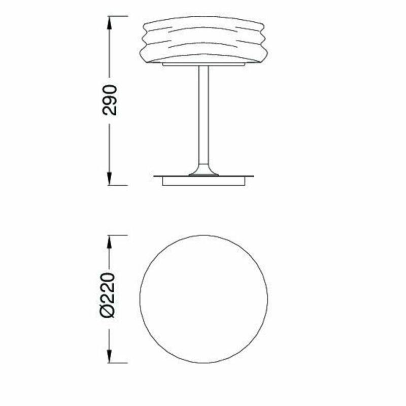 Mantra MEDITERRANEO 3627 asztali lámpa króm fém