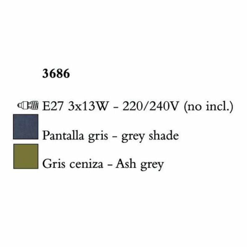 Mantra LUA 3686 csillárok nappaliba sötétszürke fém
