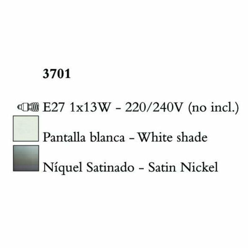 Mantra LUA 3701 falikar szatinált nikkel fém