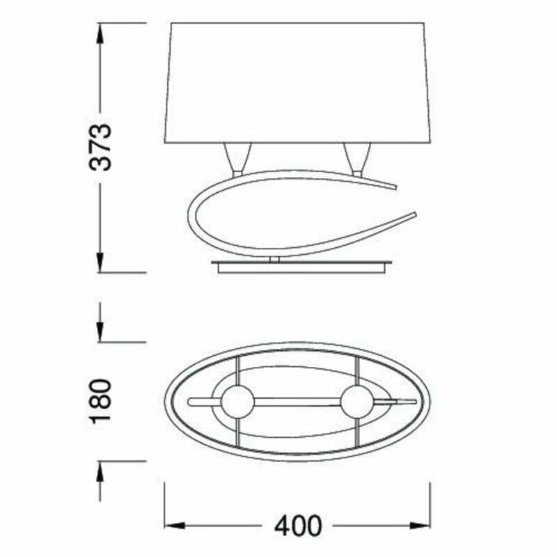 Mantra LUA 3703 asztali lámpa  szatinált nikkel   fém