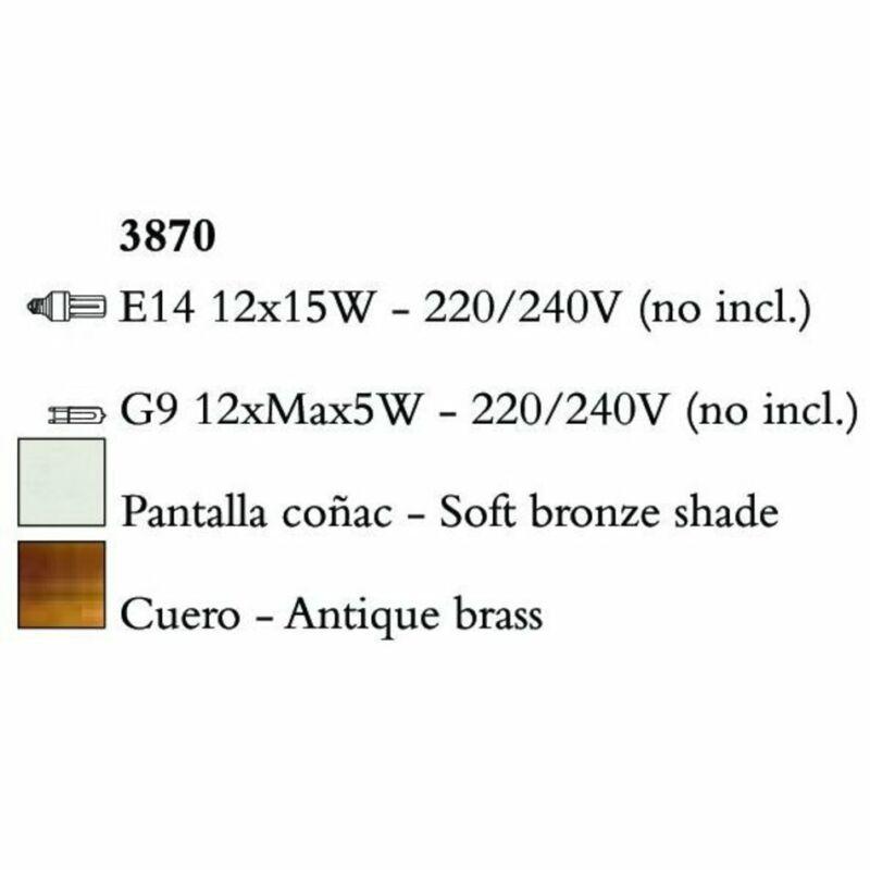 Mantra TIFFANY 3870 csillárok nappaliba  antik bronz   fém