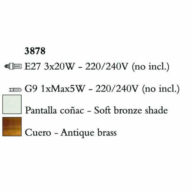 Mantra TIFFANY 3878 csillárok nappaliba  antik bronz   fém