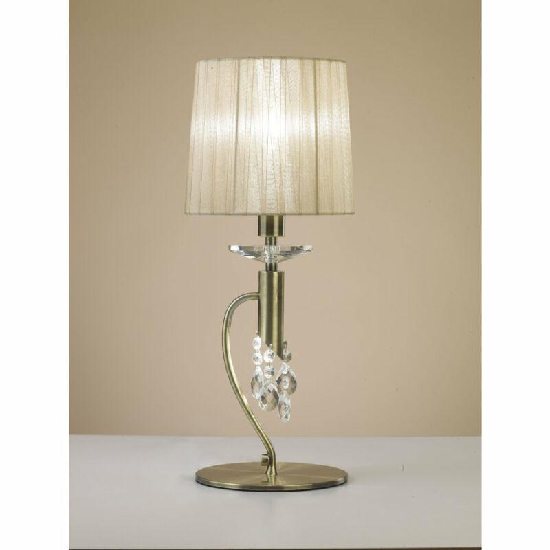 Mantra TIFFANY 3888 asztali lámpa  antik bronz   fém