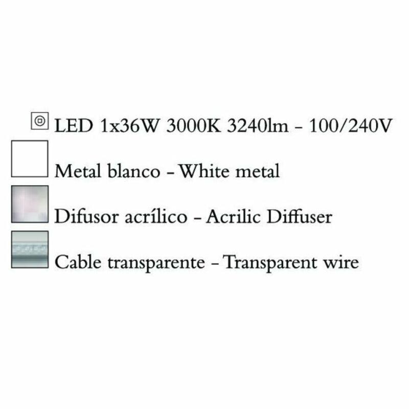 Mantra DISCOBOLO 4490 modern csillár  fehér   alumínium