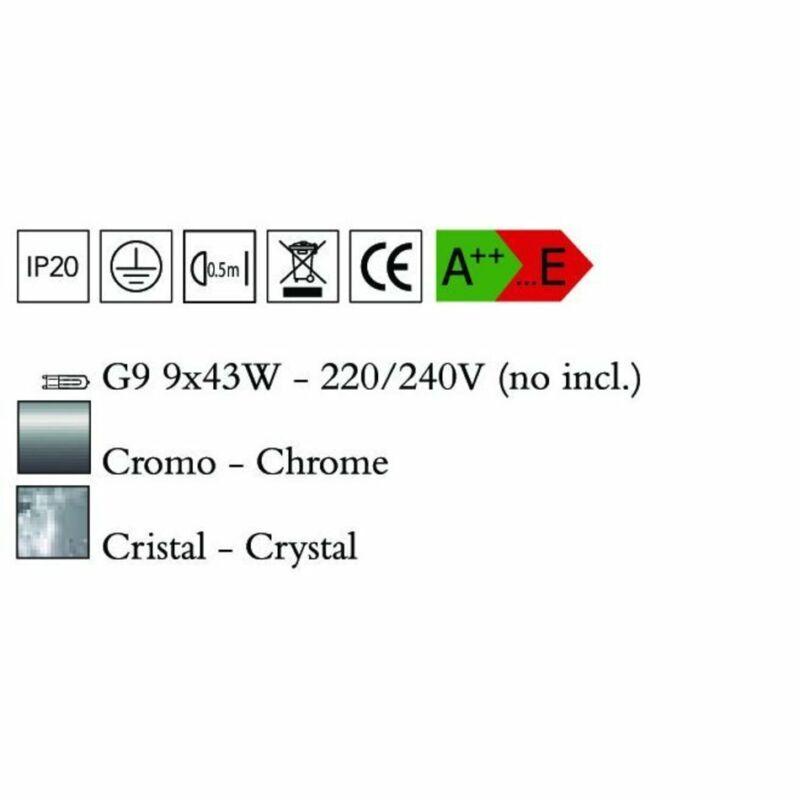 Mantra CRYSTAL 4607 modern csillár üveg