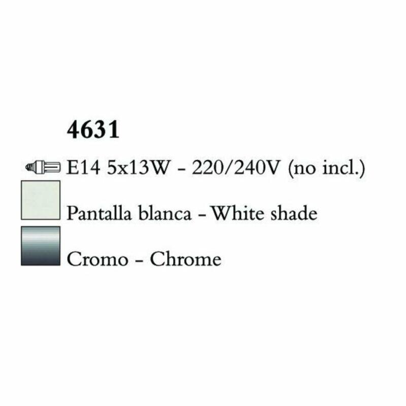Mantra LOEWE CROMO 4631 csillárok nappaliba  króm   fehér   fém   textil