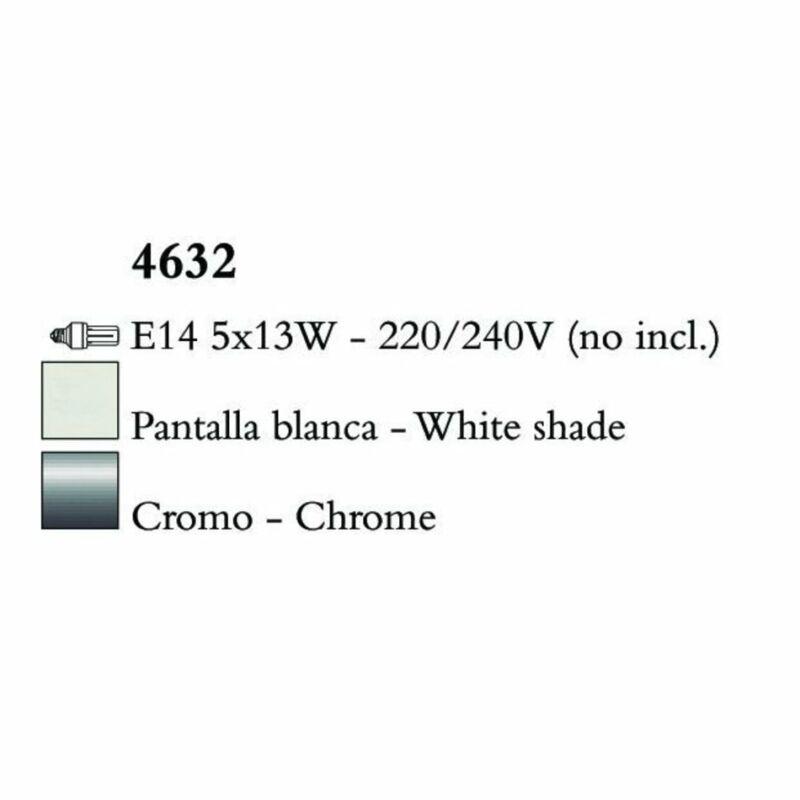 Mantra LOEWE CROMO 4632 csillárok nappaliba  króm   fehér   fém   textil