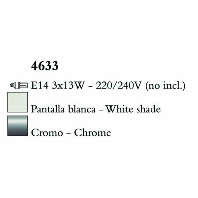 Mantra LOEWE CROMO 4633 csillárok nappaliba króm fehér fém textil
