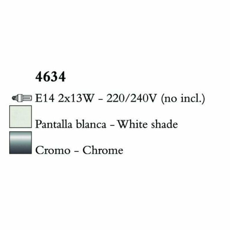 Mantra LOEWE CROMO 4634 falikar  króm   fehér   fém   textil