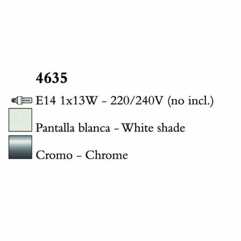 Mantra LOEWE CROMO 4635 falikar  króm   fehér   fém   textil