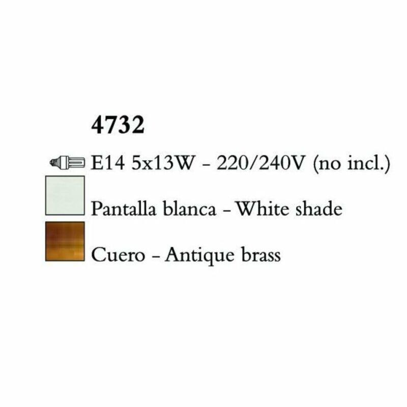 Mantra LOEWE CUERO 4732 csillárok nappaliba  antik réz   fehér   fém   textil