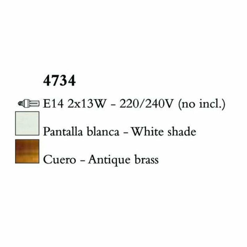 Mantra LOEWE CUERO 4734 falikar  antik réz   fehér   fém   textil