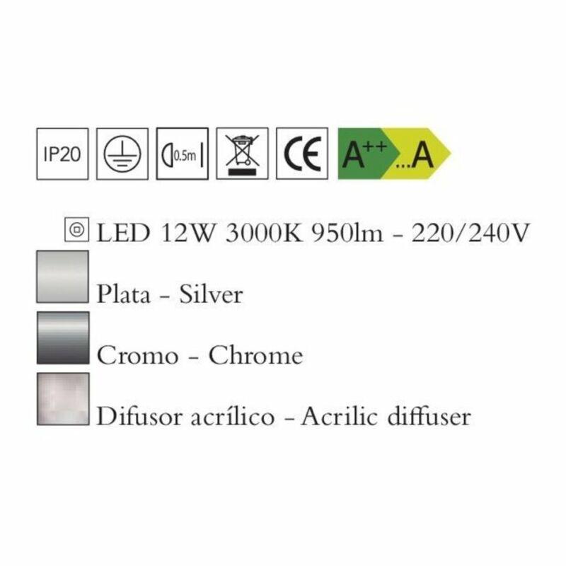 Mantra KNOT 4988 fali lámpa króm fém