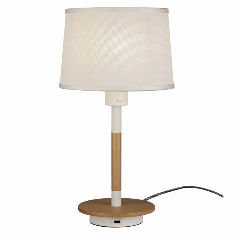 Mantra Nordica II 5464 asztali lámpa  fa   fehér