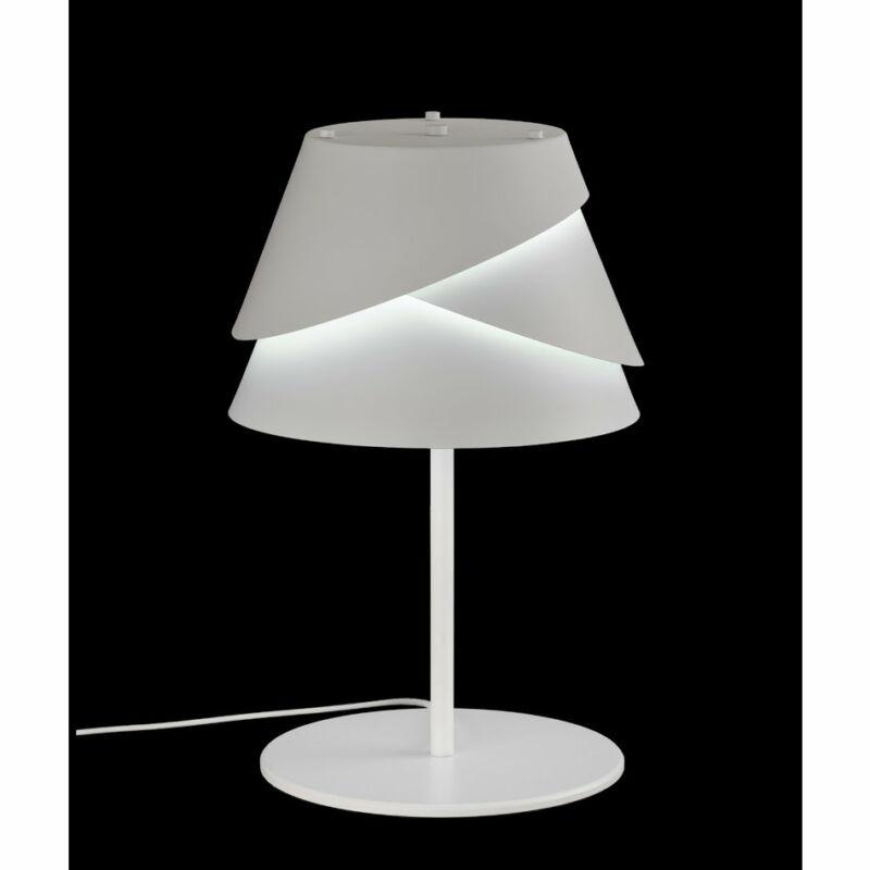 Mantra Alboran 5863 éjjeli asztali lámpa  fehér   fehér   fém   fém