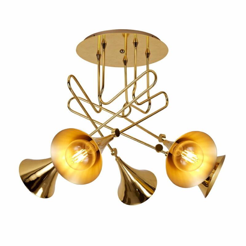Mantra Jazz 5897 mennyezeti lámpa arany arany fém