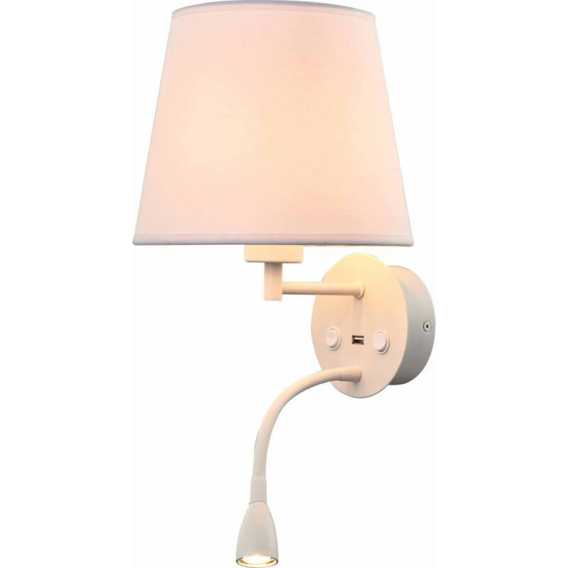 Mantra CAICOS 6091 fali lámpa matt fehér fehér szövet