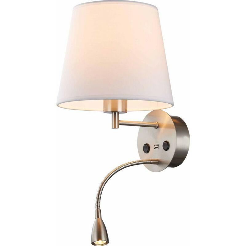Mantra CAICOS 6092 fali lámpa  szatinált nikkel   fehér   fém   szövet