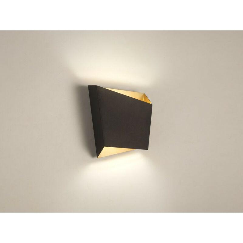 Mantra ASIMETRIC 6222 fali lámpa fekete fekete fém acél