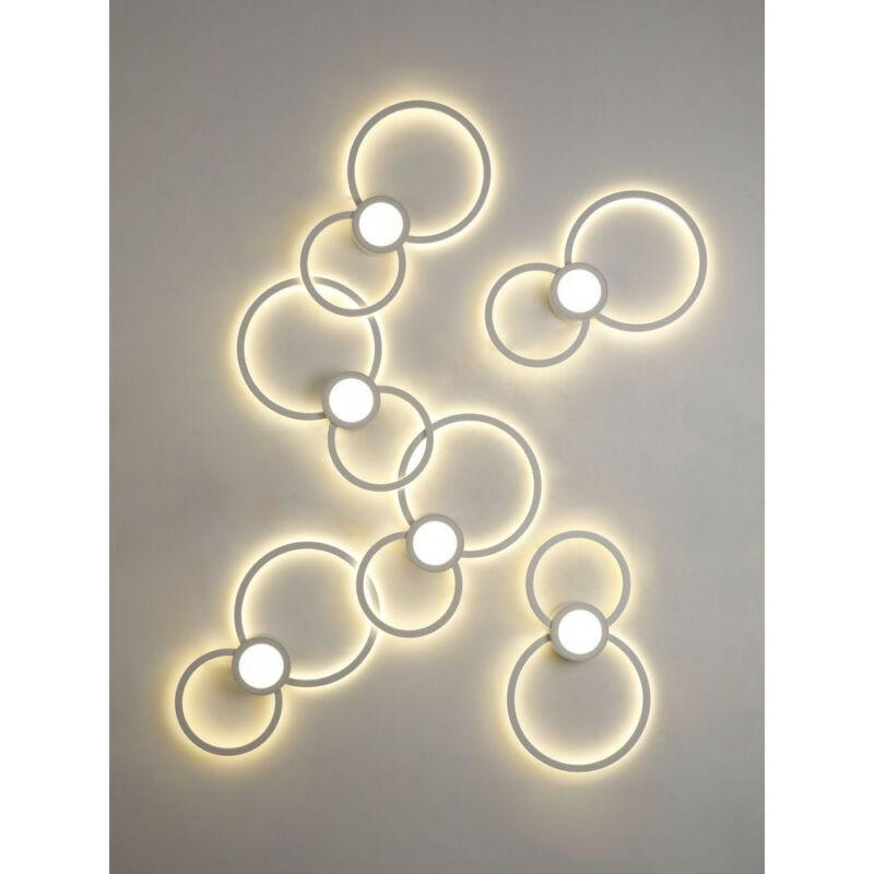 Mantra MURAL 6230 fali lámpa fehér fehér alumínium akril