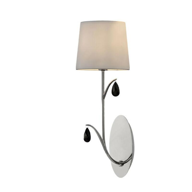 Mantra ANDREA CHROME 6317 fali lámpa króm fehér fém szövet