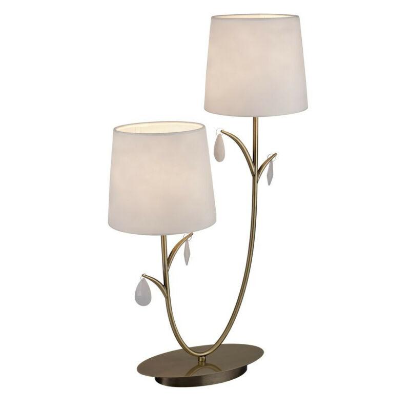 Mantra ANDREA ANTIQUE BRASS 6338 asztali lámpa  antik réz   fehér   fém   szövet