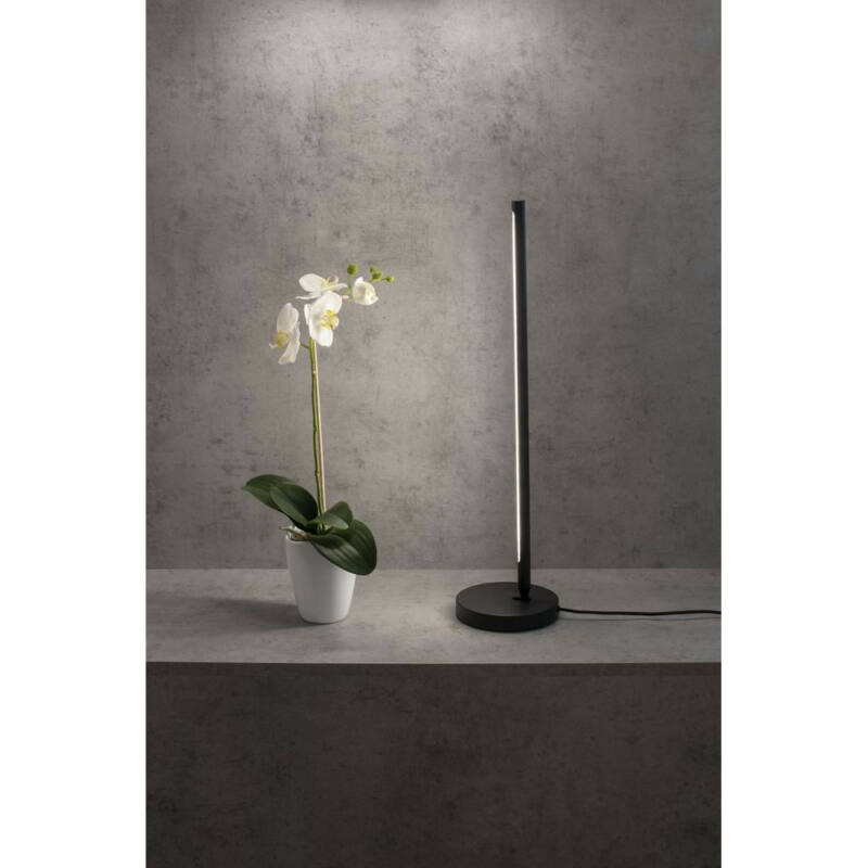 Mantra TORCH 6738 ledes asztali lámpa matt fekete fekete alumínium akril
