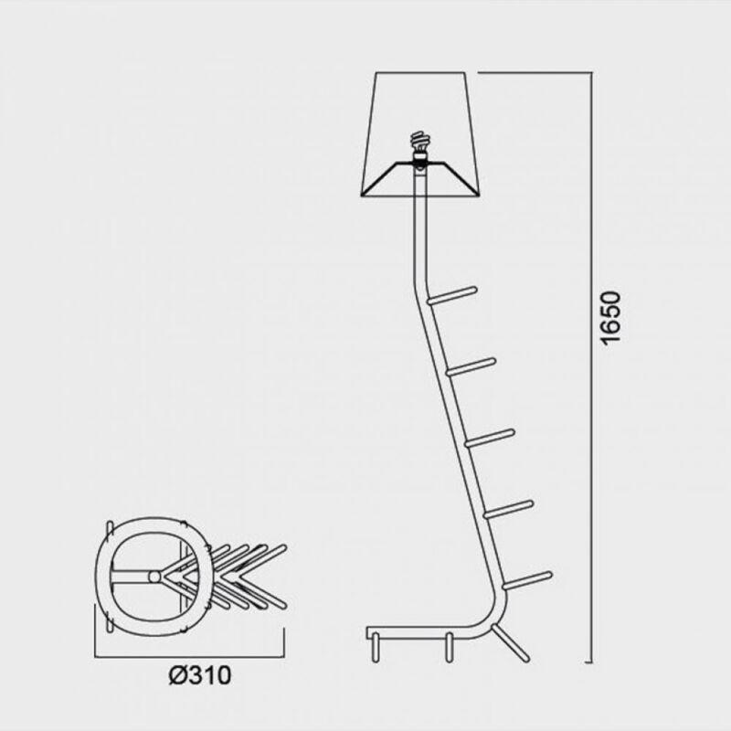 Mantra Centipede 7255 állólámpa  fekete   fehér