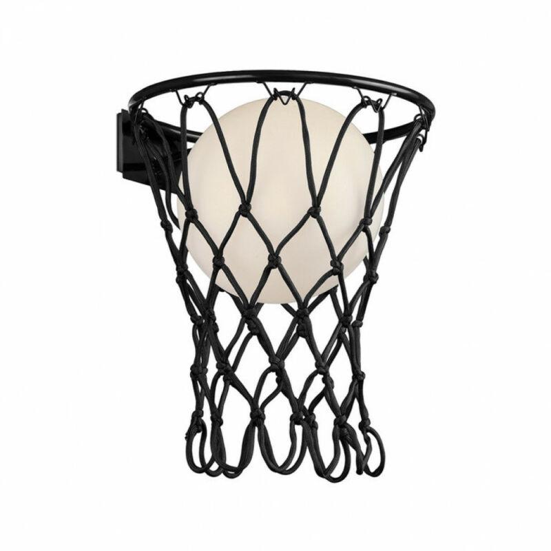 Mantra Basketball 7243 fali gyereklámpa  fekete   kötél