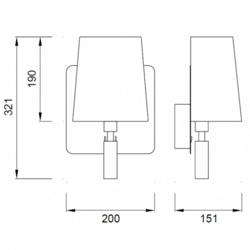 Mantra BAHIA 5232 fali olvasólámpa nikkel fehér acél műanyag