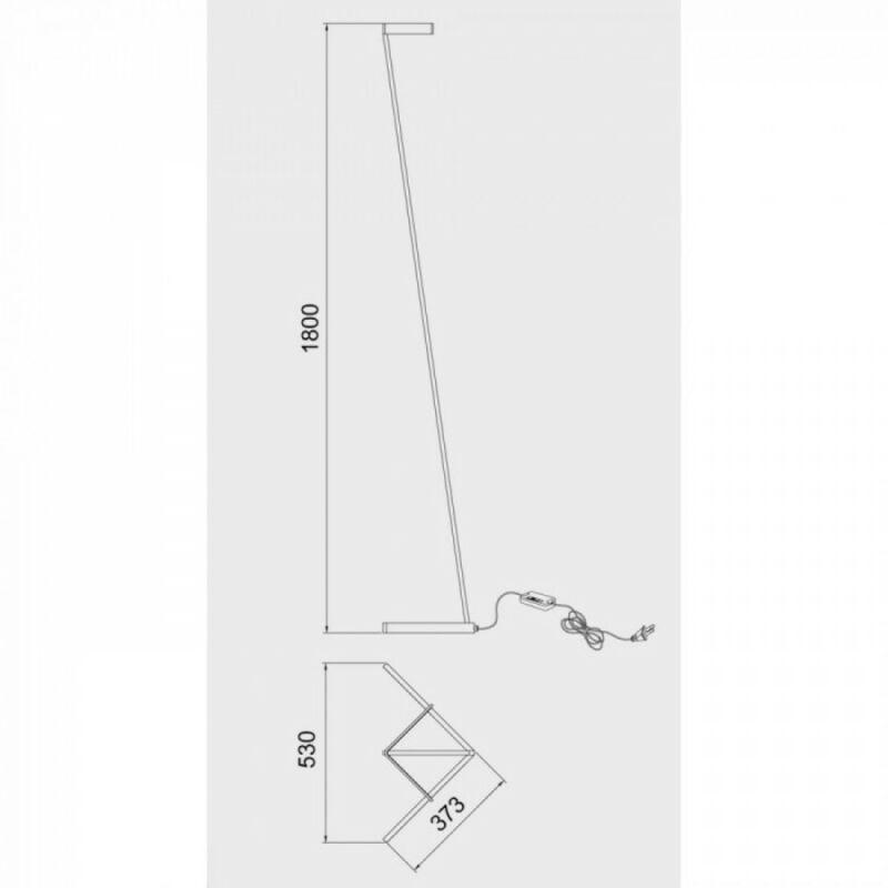 Mantra Vector 7332 állólámpa fényerőszabályzós fekete fém