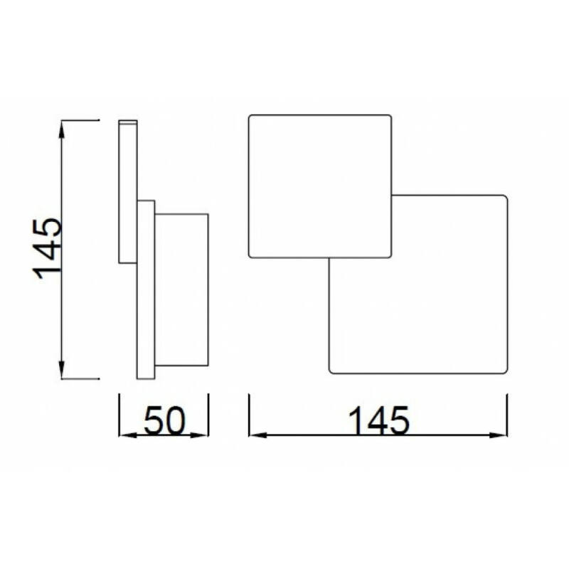 Mantra TAHITI C0141 fali lámpa kapcsolóval matt fehér alumínium