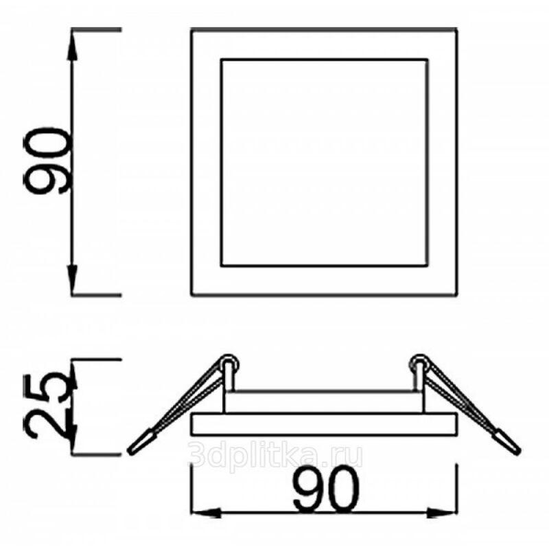 Mantra SAONA C0194 álmennyezetbe építhető lámpa  matt fehér